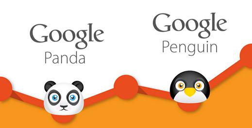 بک لینک , الگوریتم پاندا و پنگوئن
