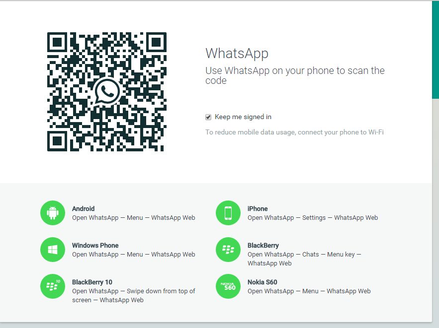 رابط وب - واتزاپ